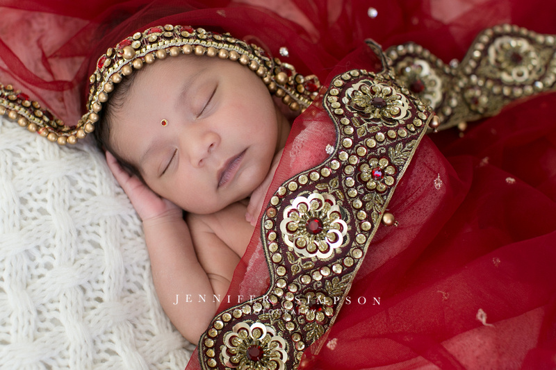 Jennifer Simpson Photography Newborn Baby Girl Studio